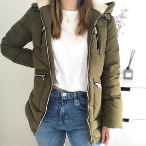 Zara Green Puffer Jacket